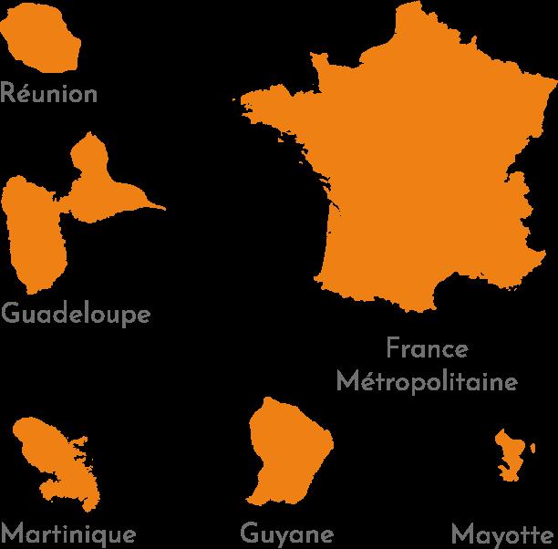 carte des DROM